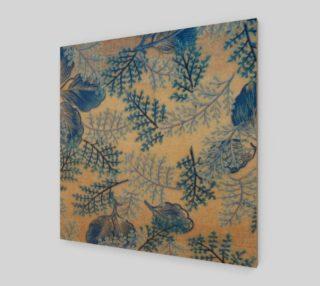 1950s Blue Ferns Fabric Replica Wall Art preview
