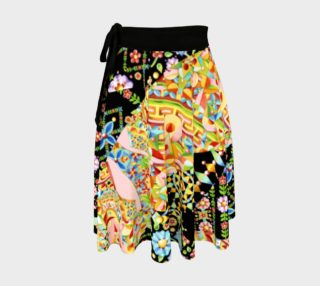 Crazy Patchwork Swirl Circle Skirt aperçu