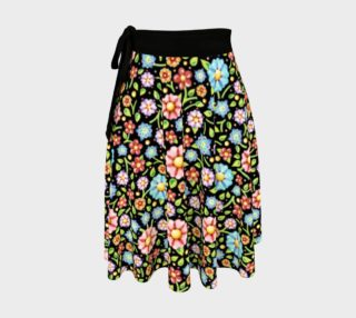 Confetti Flowers Wrap Skirt preview