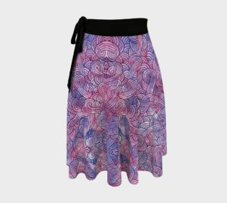 Purple swirls doodles Wrap Skirt preview