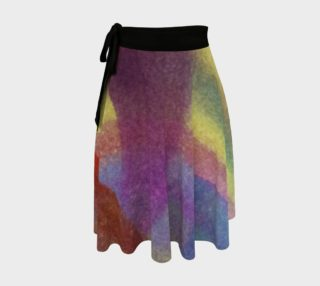 Watercolor Wow Wrap Skirt preview
