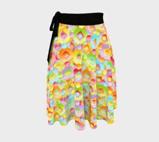 Aperçu de Candy Rainbow Dots Circle Skirt