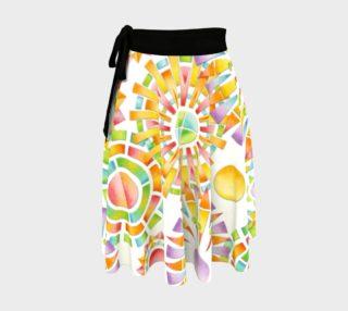 Aperçu de Sunburst Geometric Circle Skirt