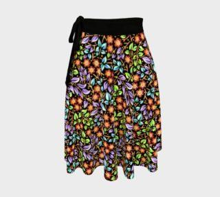 Aperçu de Filigree Floral Ditsy Circle Skirt