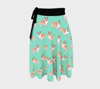 Welsh corgi dogs pattern Wrap Skirt aperçu