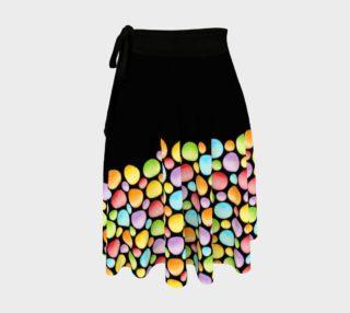 Aperçu de Rainbow Dot Horizon Circle Skirt