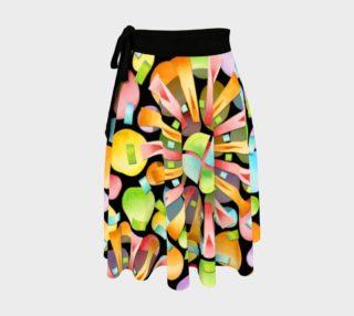 Aperçu de Rainbow Sunburst Circle Skirt