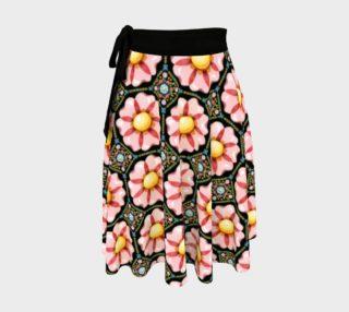 Aperçu de Pink Daisy Boho Circle Skirt