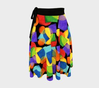 Candy Rainbow Geometric Circle Skirt preview