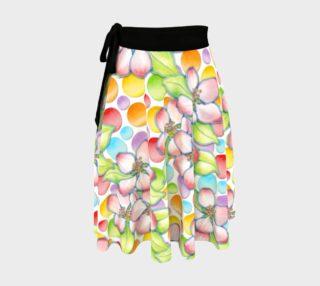 Aperçu de Apple Blossom Polka Dots Circle Skirt