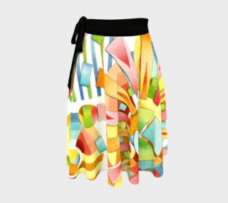 Aperçu de Pastel Fireworks Circle Skirt