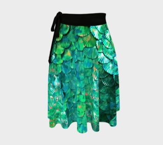 Green Mermaid Scale Wrap Skirt  preview