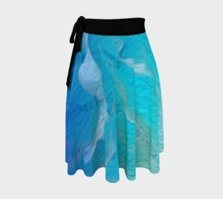 Aperçu de Blue I So Hope Wrap Skirt