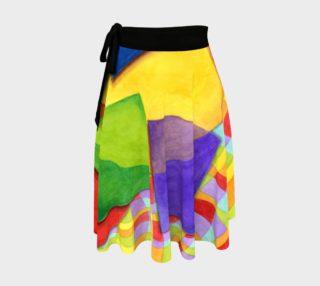 Groovy Rainbow Geometric Circle Skirt preview
