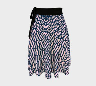 Organic Abstract Navy Blue Wrap Skirt preview