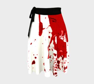 Blood Splatter 1 Wrap Skirt preview