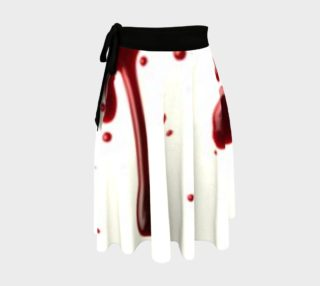 Blood Splatter three wrap skirt preview