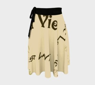 Coffee C'est la Vie Wrap Skirt preview