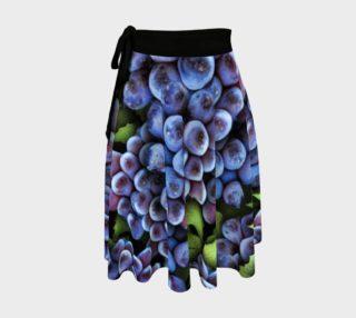Grapes Pattern Wrap Skirt preview