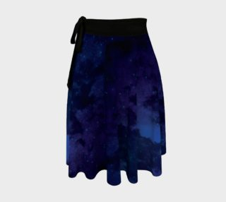 Aperçu de Deep Blue Sorcerer's Apprentice Wrap Skirt