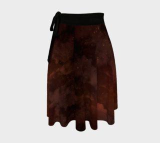 Aperçu de Orange Pyromancer's Apprentice Galaxy Wrap Skirt