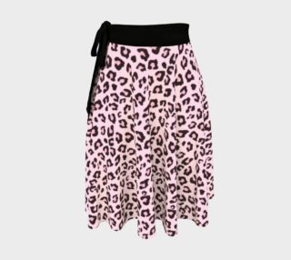 Leopard Print - Pink Chocolate Wrap Skirt preview