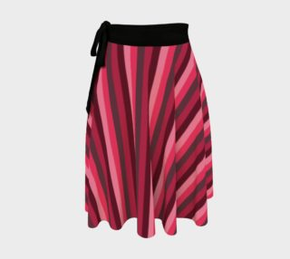 wrap skirt - Vintage red stripes preview