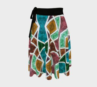 Geometric Marble Wrap Skirt preview