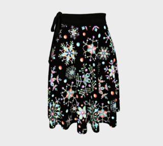 Aperçu de Prismatic Snowflake Circle Skirt