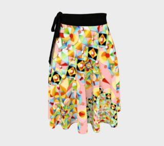 Aperçu de Pink Carousel Circle Wrap Skirt