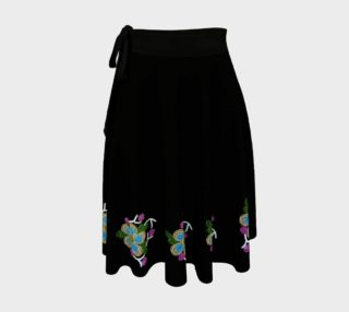 Ojibwe Beaded Floral Wrap Skirt - Authentic Beadwork Design preview