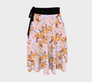Iris and Peony Light Purple Wrap Skirt preview