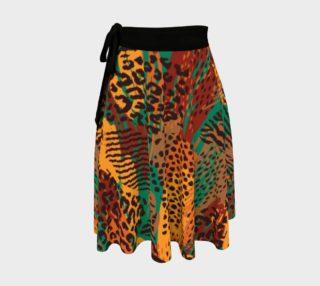 Safari Animal Print Mashup Wrap Skirt preview