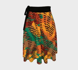 Abstract Animal Stripes Wrap Skirt preview