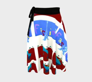 Fashion Art Central / Paris Poster Wrap Skirt preview