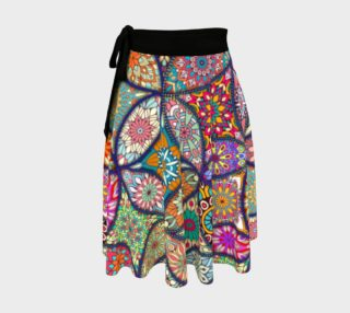Vibrant Mandalas Wrap Skirt preview