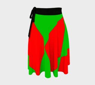 Christmas Harlequin Diamond Wrap Skirt preview