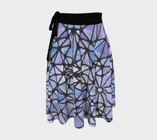 Purple and Blue Kaleidoscope Wrap Skirt preview