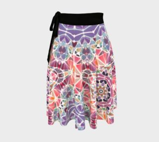 Purple and Pink Kaleidoscope Wrap Skirt preview