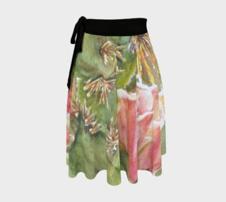 Peach Cactus Flower Wrap Skirt preview