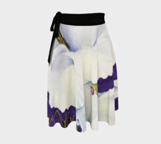 White Gladiolas Lady Bug Wrap Skirt preview
