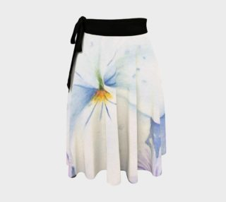 White Pansy Wrap Skirt preview