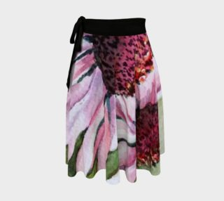 Pink Echinacea Wrap Skirt preview