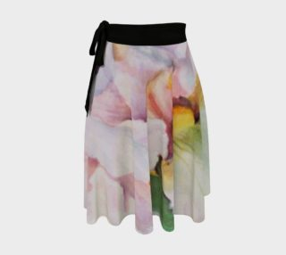 White Iris Petals Wrap Skirt preview
