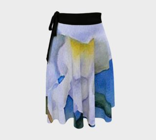White Snapdragons Wrap Skirt preview