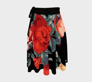 Vintage Floral - Roses on Black Background preview