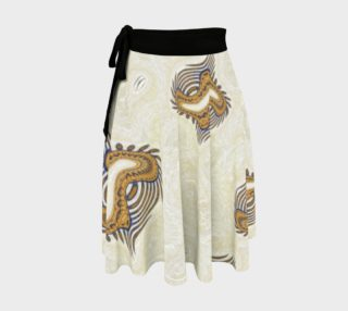 Yoga Woman Victory Symbol Wrap Skirt (w/lux-surface look.) preview