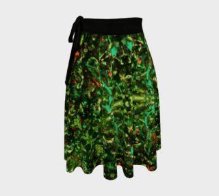 Jungle Velvet Wrap Skirt preview