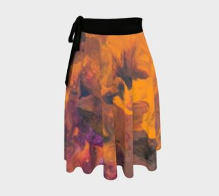 Sunset Flowers Wrap Skirt preview