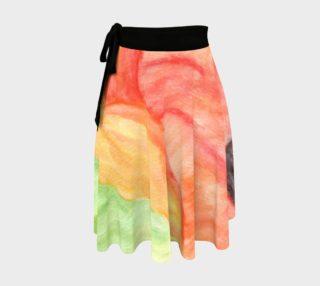 Giant Orange Poppy Wrap Skirt preview